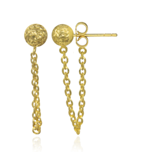 Flail Earrings by Oro China Jewelry