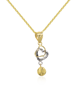Twin Hearts Necklace by Oro China Jewelry